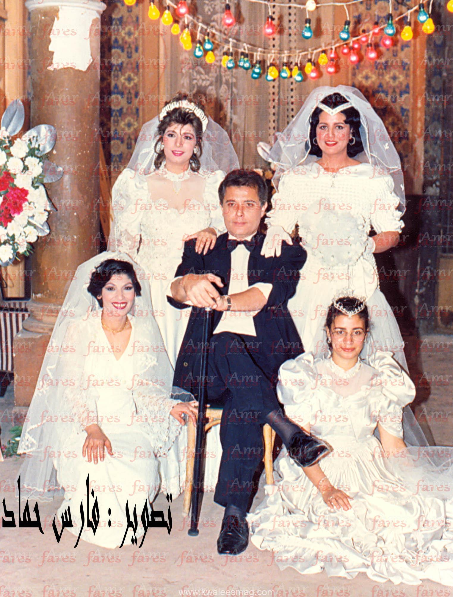 صورة نادرة من فيلم سيداتي آنساتي سنة 1990